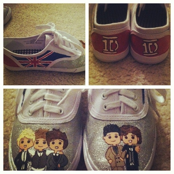 one direction painted canvas shoes by craftsbyjayy on