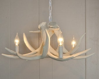 White Antler Chandelier | Faux Antler Chandelier W3C | Antler Lighting