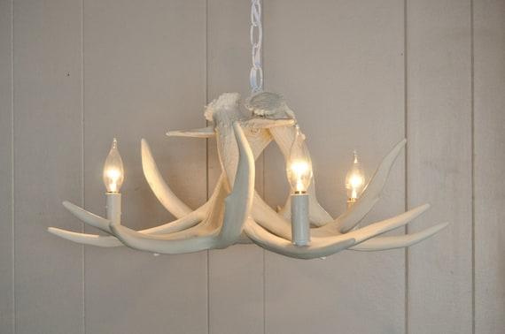 White antler chandelier faux antler chandelier w3c antler like this item aloadofball Gallery