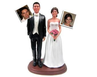 Custom Tuxedo Groom with Your Choice of Bride Wedding Cake Topper