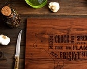 Wooden Beef Butcher Diagram Cutting Board - 12x16 - Laser Engraved - Foodie, Dad, Mom, Barbecue, Couple, Wedding Valentine's Day