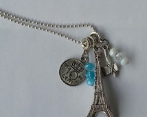 Long necklace with different charms
