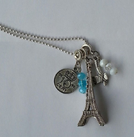 necklace with different charms