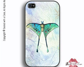 Luna Moth - iPhone 4 Case, iPhone 4/4S 5/5S/5C/6/6+ and now iPhone 7 cases!! And Samsung Galaxy S3/S4/S5/S6/S7