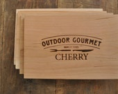 Cherry Grilling Planks: Set of 5,  Father's Day Gift, Gift for him, BBQ, Grill, Cooking Planks, For Dad