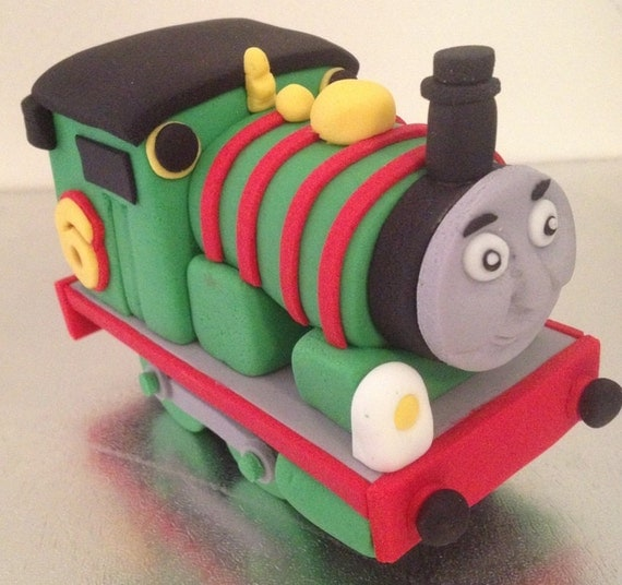 Items similar to Train Cake Topper edible fondant icing on ...