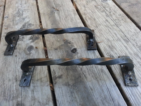 Items Similar To Rustic Blacksmith Made Barn Door Handles