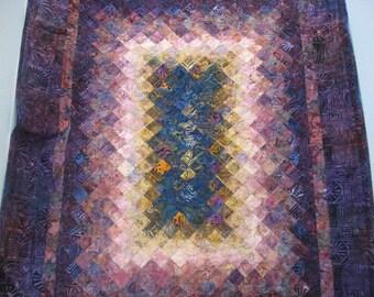Trip Around the World Style quilt