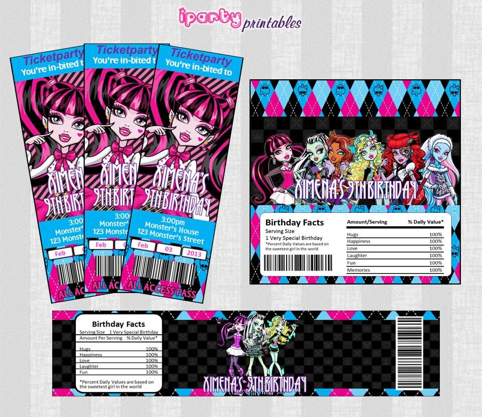 Free Printable Monster High Labels Monster High Printables Lables