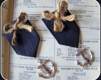 Nautical Wedding boutonniere, Beach Wedding Boutonniere, Nautical Boutonniere, Anchor Boutonniere,