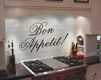 Bon Appetit Vinyl Wall Decal Wall Art Stickers