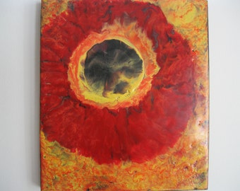 Original Encaustic Painting - Sunburst 4