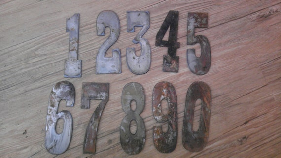 6 inch letters numbers per number rusty vintage western style metal steel wall art ornament sign