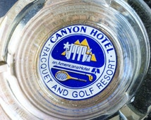 Vintage 1980s Canyon Hotel Racquet Ball and Golf Resort Ashtray
