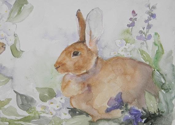 Sandy Flemish Giant Rabbit Digital Reproduction Print of