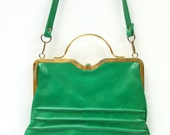 Fantastic kelly green Clarks Handbag - Made in England - FolkandHome