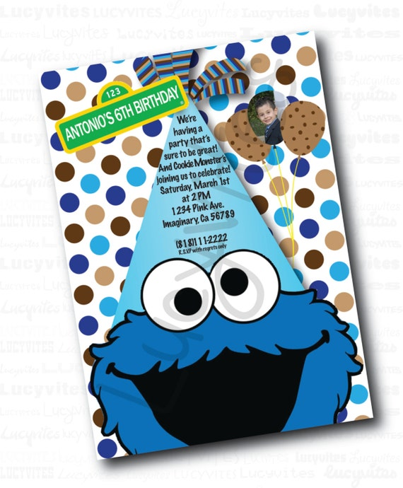 Cookie Monster Invitations for good invitations template