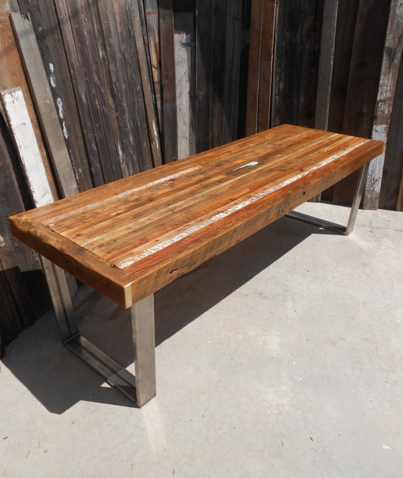 Custom Outdoor/ Indoor Rustic Industrial/ Modern Reclaimed Wood Dining Table/  Coffee Table ( - Custom Outdoor/ Indoor Rustic Industrial/ Modern Reclaimed
