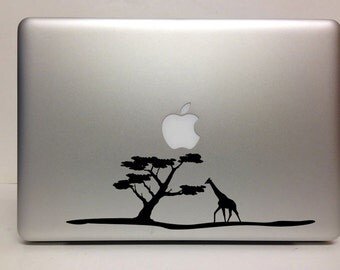 Macbook Decal africa giraffe decal Macbook Stickers laptop decal iPad decals for macbook 004