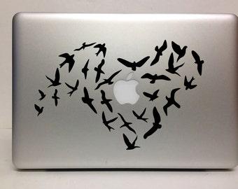 Macbook Decal love birds decal Macbook Stickers decal laptop decal iPad decals for macbook 023