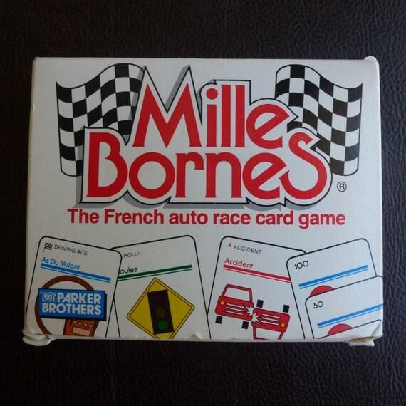 vintage mille bornes auto race card game by nvmercantile on etsy. Black Bedroom Furniture Sets. Home Design Ideas