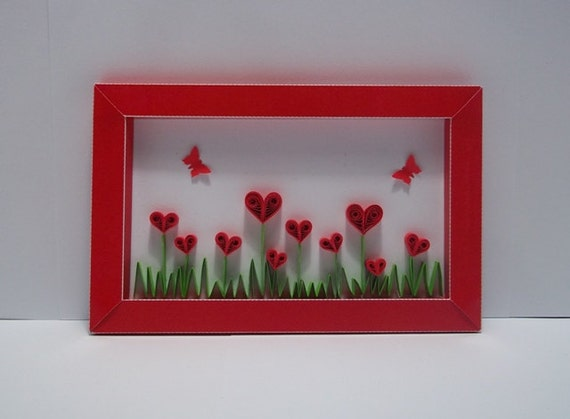 Quilled Valentine Card Love Blossom