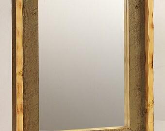 Rustic barnwood mirror