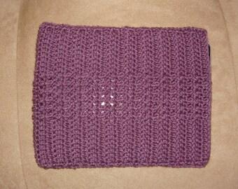 Crochet iPad / tablet case/sleeve - purple/plum