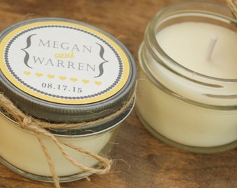 - Wedding Favor Candles - Audrey Tag Design // Personalized Wedding ...