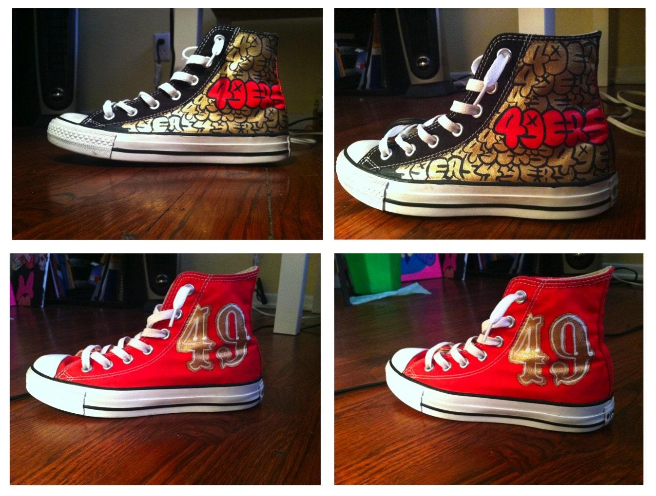 San Fran 49ers Shoes Handpainted Custom Women Shoes San Francisco
