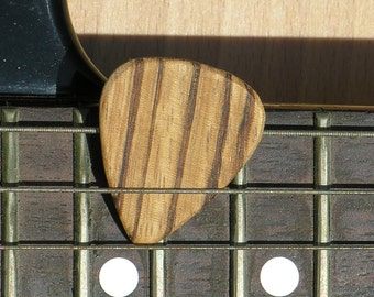 Five Zebrawood Guitar Picks