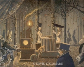 "RABBIT PUNCH (Unframed 36""x24"" Giclée Print)  Art  by David Delamare"