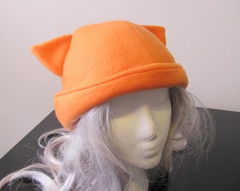 Running Hat With Ear Flaps - Kitty or Bear, Choose Your Color