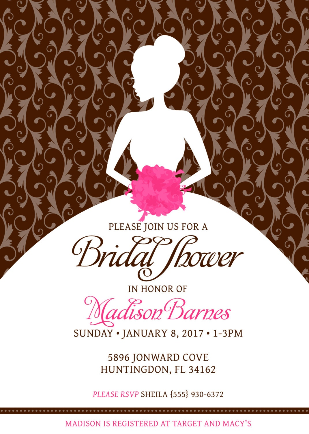 Free Printable Bridal Shower Invitation Templates for beautiful invitations layout
