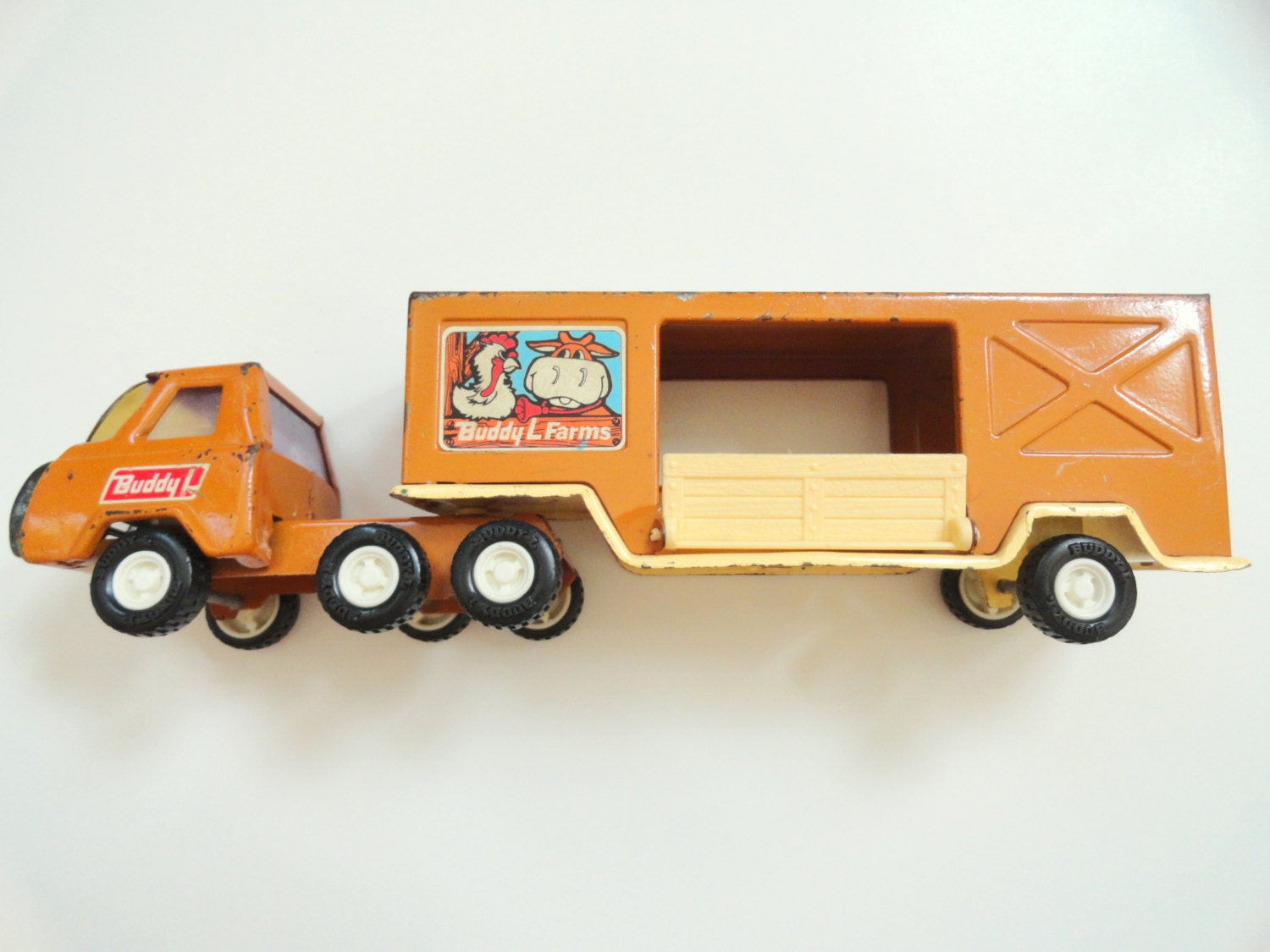 Toy Semi Tractor : Toy semi truck and trailer buddy l farms vintage