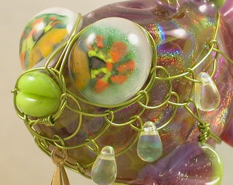 Hollow Lampwork Fish Bead