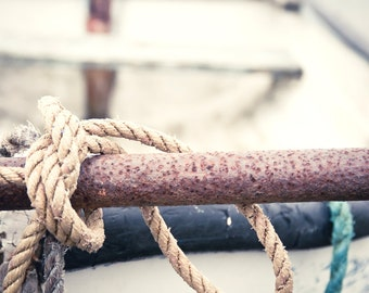 Travel Photography, Boat, Knots, Ireland, Vintage, Fine Art Photograph, Home decor - Boats, Knots and things