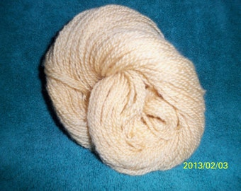 Handspun Yarn - 2.2 ounces, 2 Ply, 168 yards, worsted weight - Maize