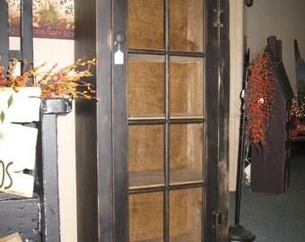 Primitive Cabinet with Glass door