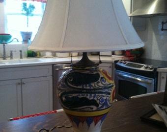 Vintage Italian multi colored lamp