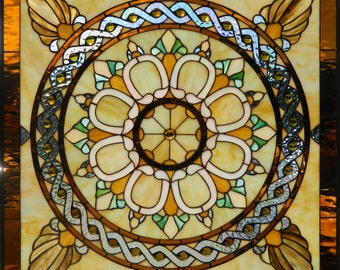 VICTORIAN CLASSIC Stained Glass Panel
