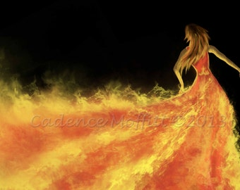 Girl on Fire 10 X 8 giclee Print