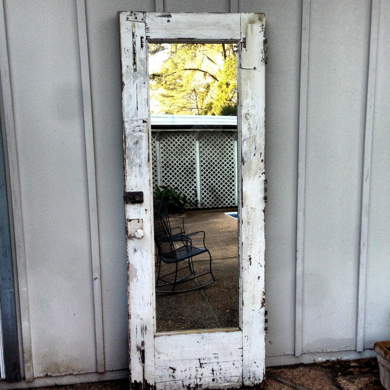 Old Door Mirror Full Length Mirror