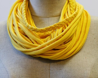 Bright Yellow T-Scarf