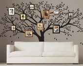 Tree Wall Decal,  Family Photo Tree Wall Decal - T46