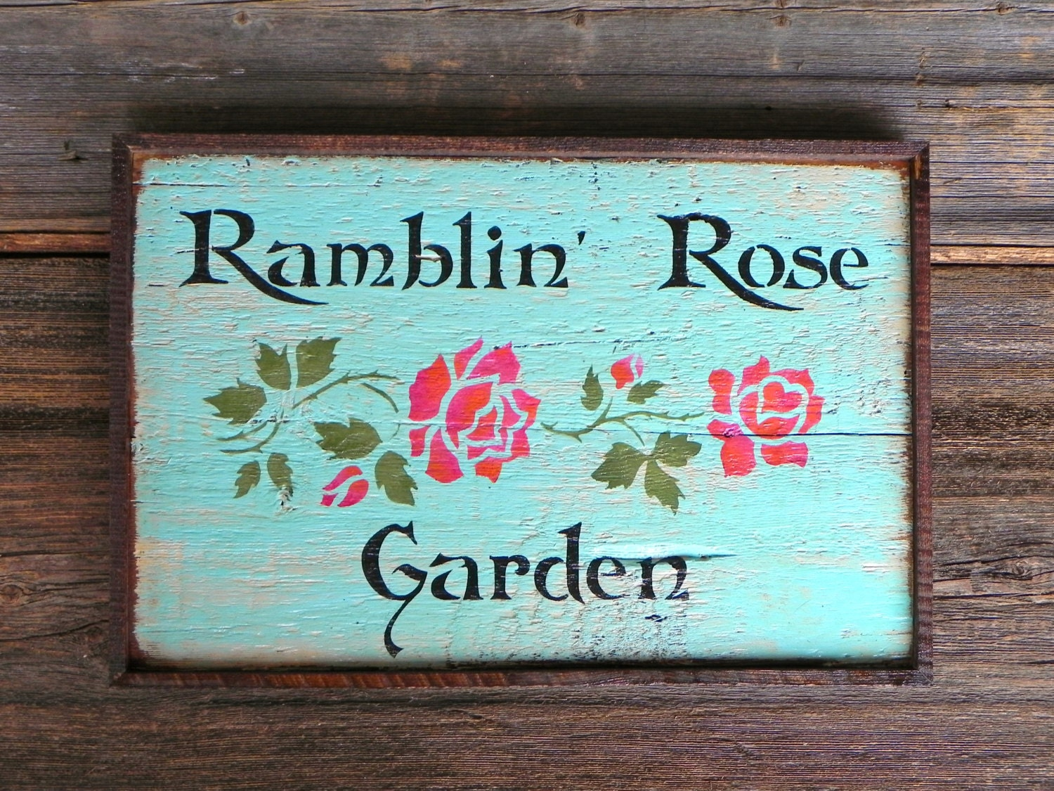 Cottage Chic Decor Rustic Wood Signs Garden Signs Garden