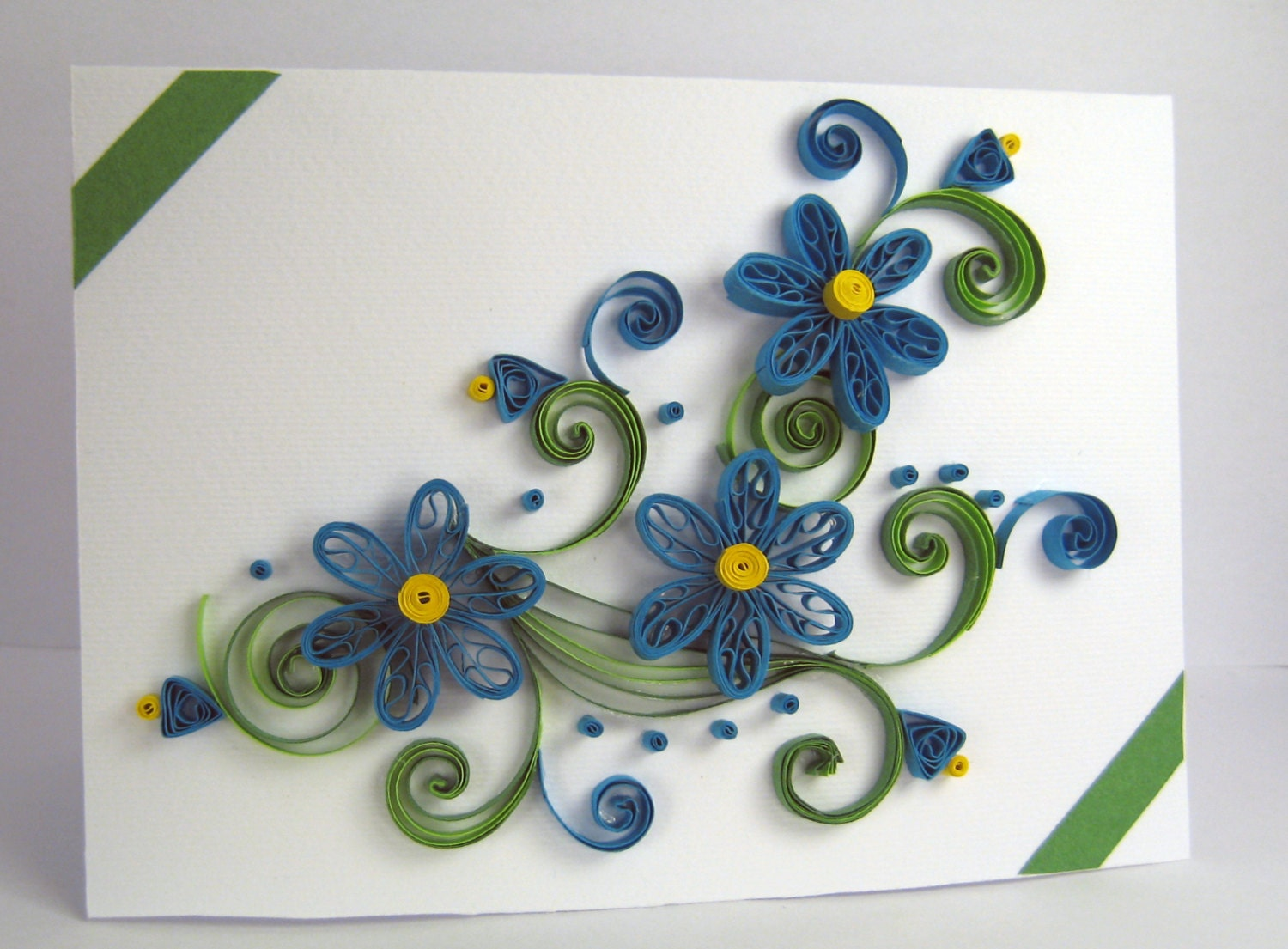 quilling greeting card handmade thank you cardstoykasart