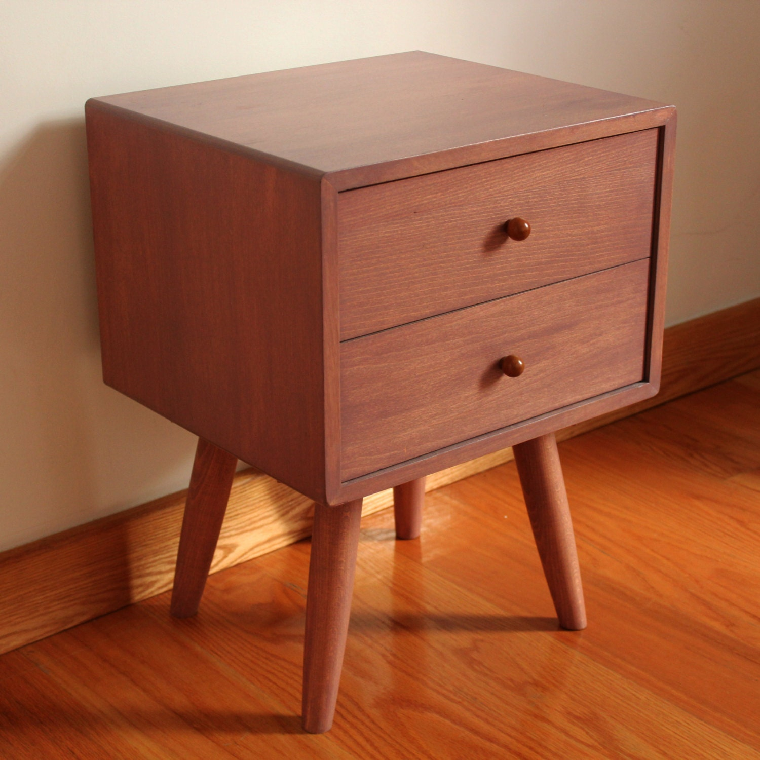 Scandinavian mid century handmade bedside by for Custom made furniture
