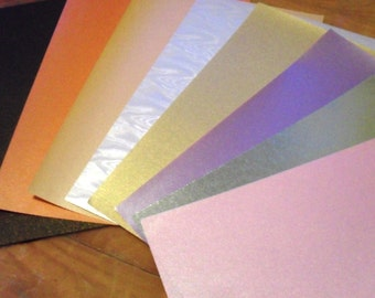 2 Dollar Sale Pearl and metallic collage paper collection, a super card making or scrap booking basic.