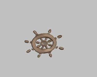 GG1056 Ship Wheel Embroidery  Design